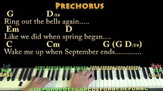 Wake Me Up When September Ends (Green Day) Piano Cover Lesson with Chords/Lyrics