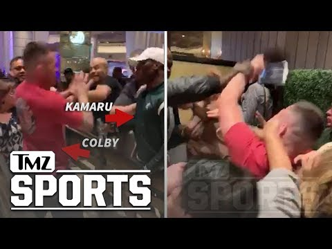 Kamaru Usman & Colby Covington Square Up in Casino Day After UFC 235   TMZ Sports