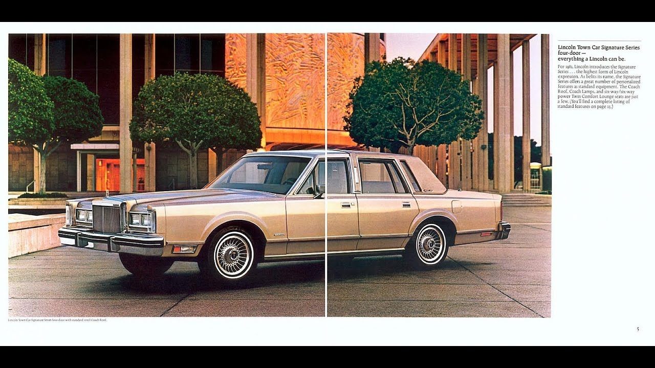 1981 lincoln town car sales brochure youtube rh youtube com 1981 lincoln town car parts 1981 lincoln town car coupe