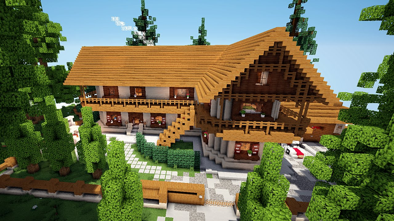 minecraft maison traditionnelle simple et styl e On maison traditionnelle minecraft