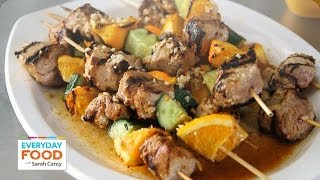 Spicy And Tangy Mojo Pork Kebabs - Everyday Food With Sarah Carey