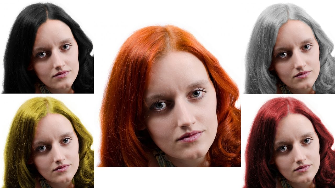 Gimp Tutorial Change Hair Color Photoshop Alternative 27