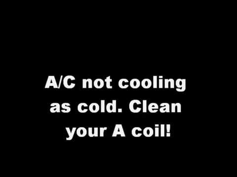 Cleaning your home A/C unit A coil