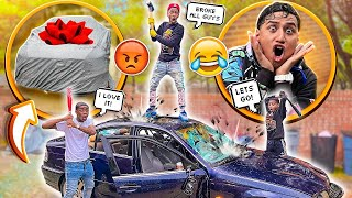 DESTROYING MY FRIEND CAR AND SURPRISING HIM WITH A NEW ONE!! **He Didn't Expect This**