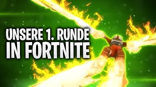 UNSERE 1. RUNDE IN FORTNITE + FLAMMEN PARTIKEL! 👶🏻 | Fortnite: Battle Royale