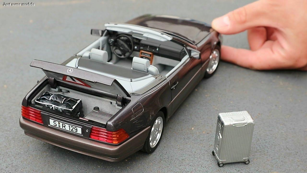1:18 Mercedes-Benz 500SL R129 1989, bornit metallic - Norev Dealer Edition [Unboxing]
