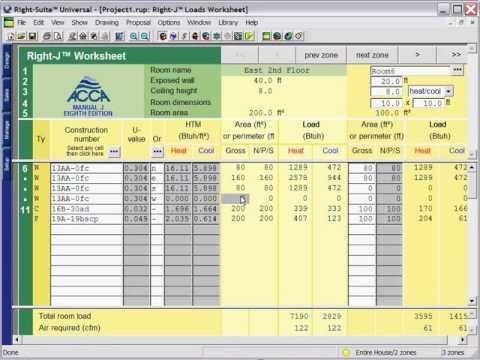 Acca Manual J Load Calculation