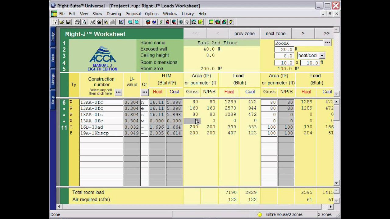 Right J Overview Acca Manual J Load Calculation
