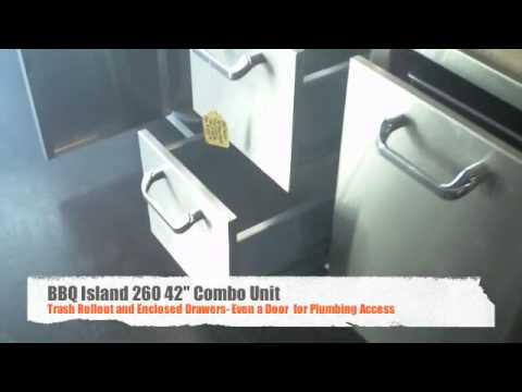 260 Series 42 Inch Single Door- 2 Drawer And Trash Rollout Combo Review