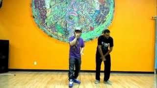 Mikee Mic freestyling with dancer Matt Day