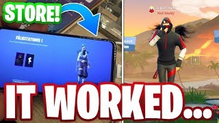 THE STORE METHOD FOR ICONIC SKIN ACTUALLY WORKED...?! (The Fortnite S10 Promo)