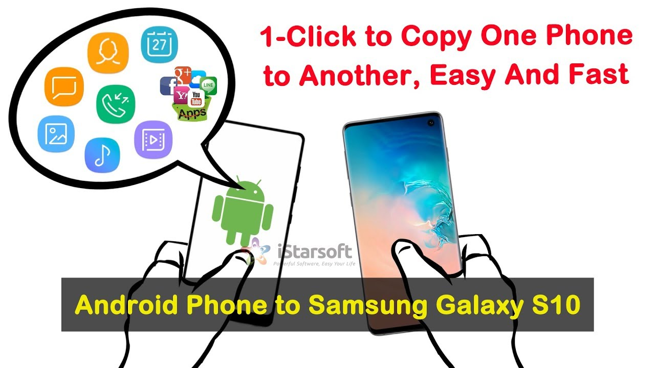 Transfer All Data from Android Phone to Samsung Galaxy S10 with dr.fone - Switch Just in One Click