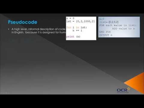 OCR GCSE Computing: Algorithms - Topic 19