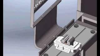 Banc d'essai de pompe d'injection classique sous solidworks
