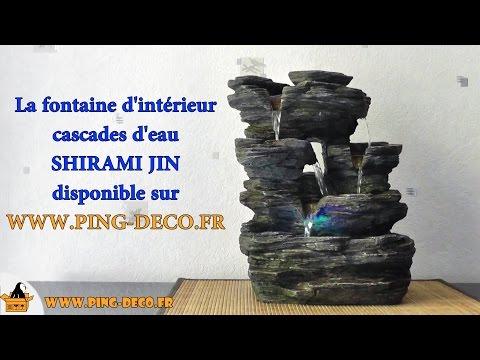 Fontaine Intérieur Cascades Nature Shirami Jin (WWW.PING DECO.FR)