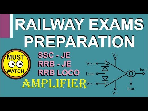 Loco pilot RRB-JE  SSC-JE exam preparation Amplifier concepts  electronics