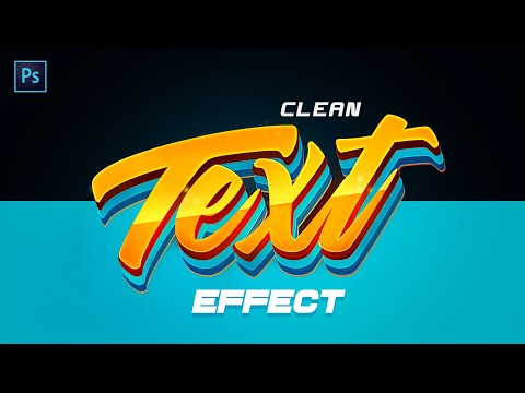 PS Tutorial: Clean 3D Style Text Effect