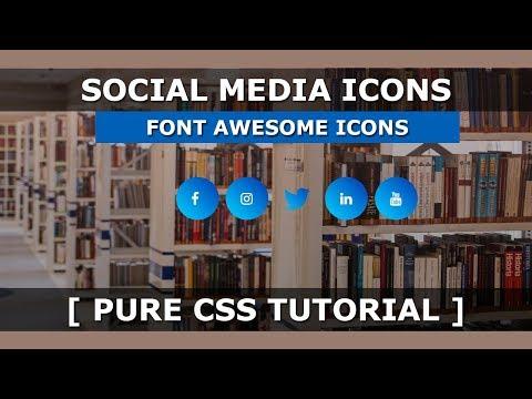 social media icon html css | Nikkies Tutorials
