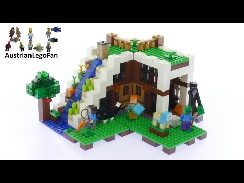 Lego Minecraft 21134 The Waterfall Base - Lego Speed Build Review