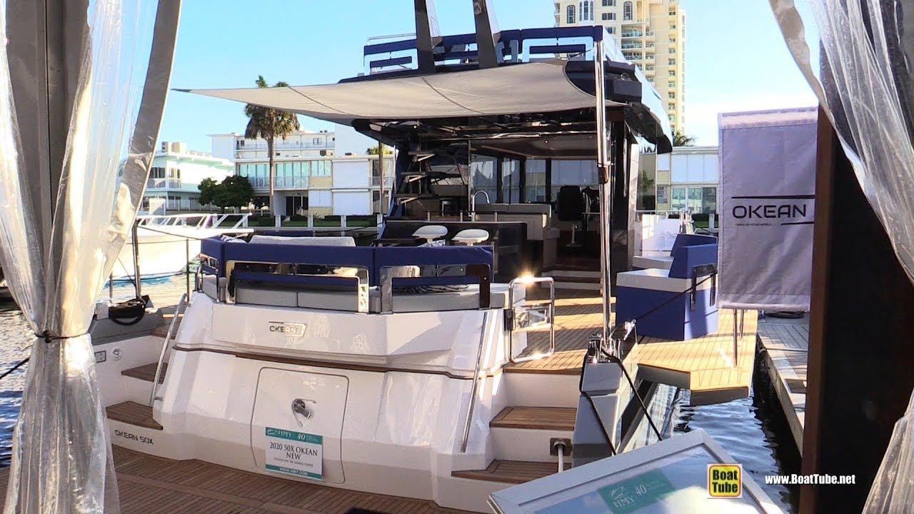 Fort Lauderdale Boat Show 2020.2020 Okean Yacht 50x Walkaround Tour 2019 Fort Lauderdale Boat Show
