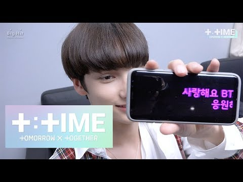 [T:TIME] Here's the men giving a big cheer for BTS - TXT (투모로우바이투게더)