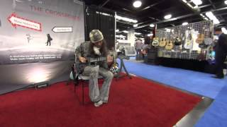 Rama Satria Claproth Professional Artist Endorser playing the SlideWinder Ring @ NAMM2015