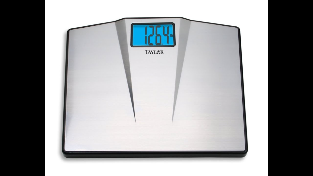 Taylor High Capacity Digital Bathroom Scale   YouTube