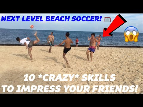BEACH FOOTBALL WITH SUBSCRIBERS! FOOTBALL IN PARADISE - Learn Awesome Football skills and tricks!