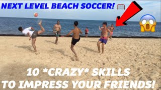 BEACH FOOTBALL WITH SUBSCRIBERS FOOTBALL IN PARADISE Learn Awesome Football skills and tricks