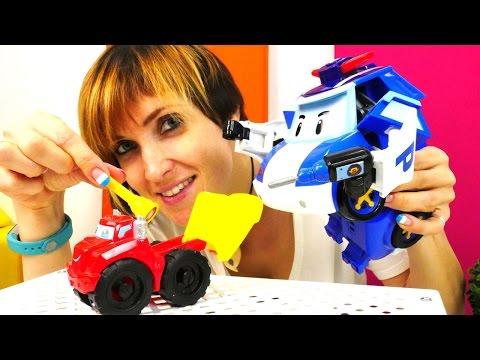 Машины Игрушки: Робокар