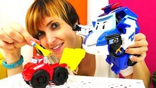 Машины Игрушки: Робокар Поли и Грузовичок Чак в видео для детей Полный Порядок