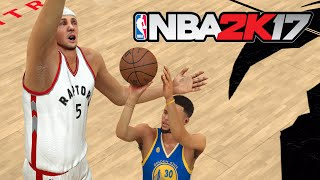 can one giant 99 overall player defeat the whole golden state warriors team nba 2k17 challenge
