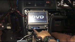 ぐだぐだdiy jzx100チェイサーに激安dvdプレーヤー取付