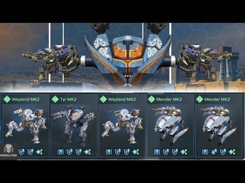 1.8 Million Damage With Only Healing (No Weapons) | 5 Healing Robot Hangar | War Robots
