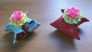 Как Сделать За 3 Минуты Коробочку для Маленького Подарка. Полезный Лайфхак