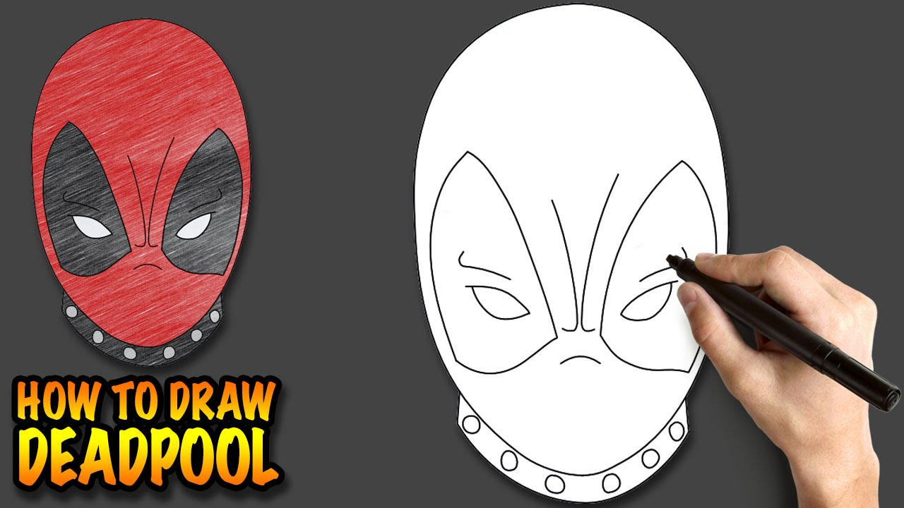 how to draw deadpool easy step by step drawing lessons for kids youtube