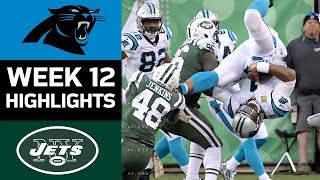 Panthers vs. Jets | NFL Week 12 Game Highlights