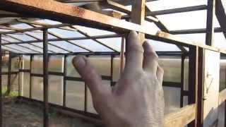 Сотовый поликарбонат на деревянную теплицу 3.(, 2014-04-28T07:34:57.000Z)