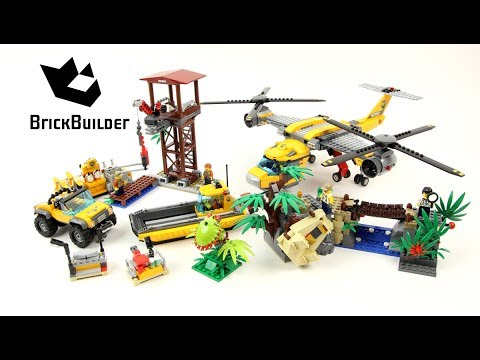 Lego City 60162 Jungle Air Drop Helicopter - Lego Speed Build - YouTube