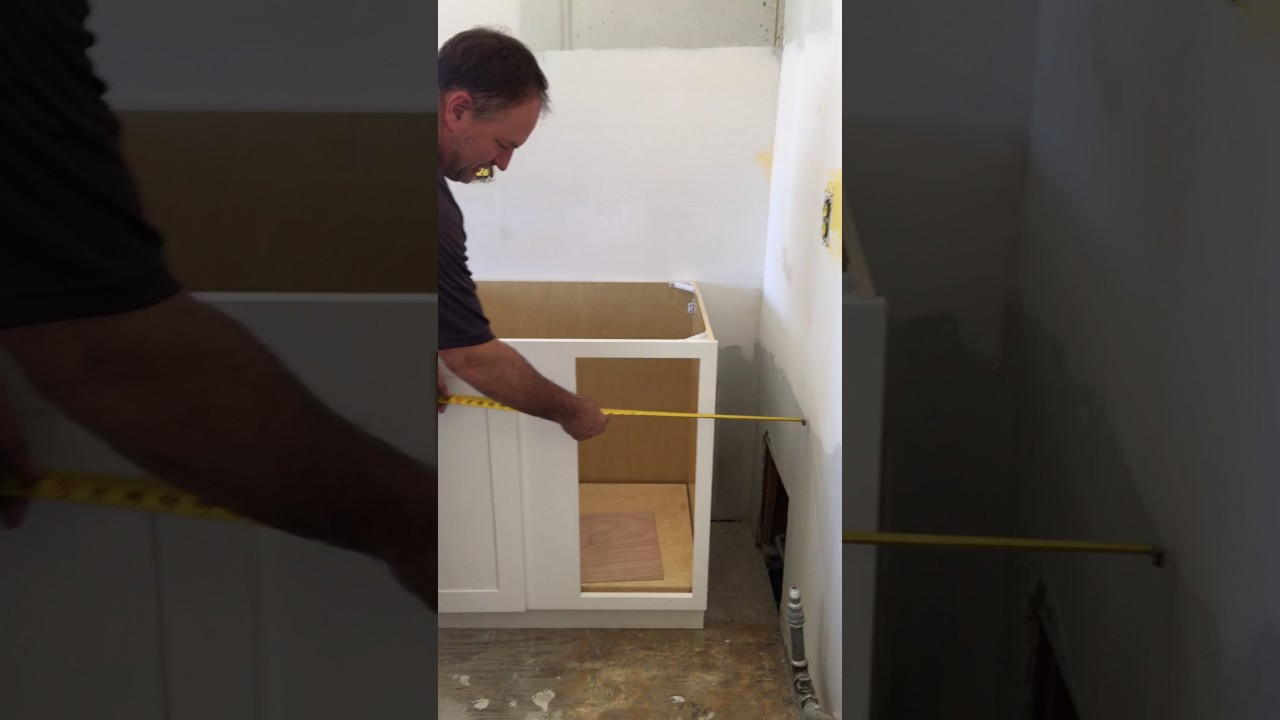 How To Install A Blind Base Kitchen Cabinet In The Corner Premiumcabinets Com Youtube