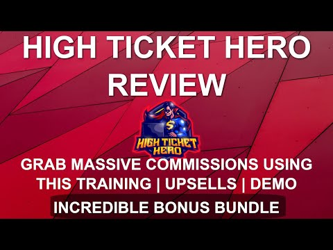 High Ticket Hero Review 🦸‍♂️ | Massive Commissions with Facebook Free Method 🦸‍♂️ thumbnail