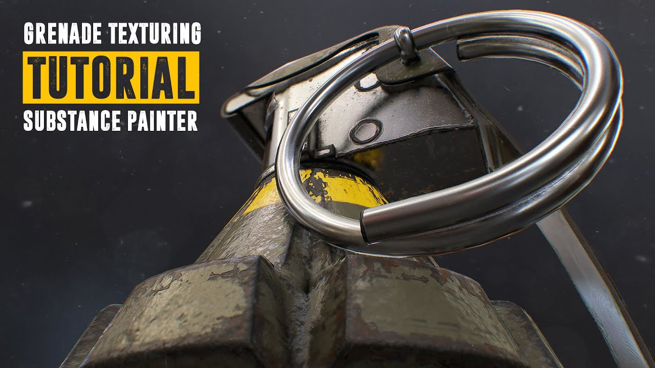 Substance Painter 3D Grenade Texturing Tutorial for Beginners | CG Elves
