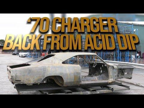 1970 Charger restoration back from acid dip EP 13