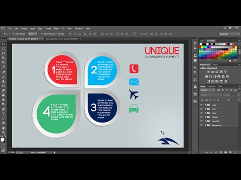 Graphic Design - Unique Infographic Circles | Sam Artwork