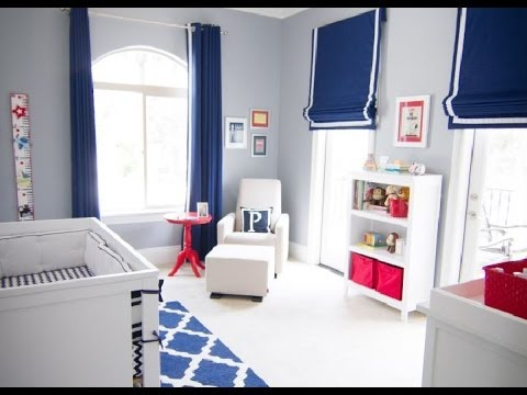 red white and blue nursery decor