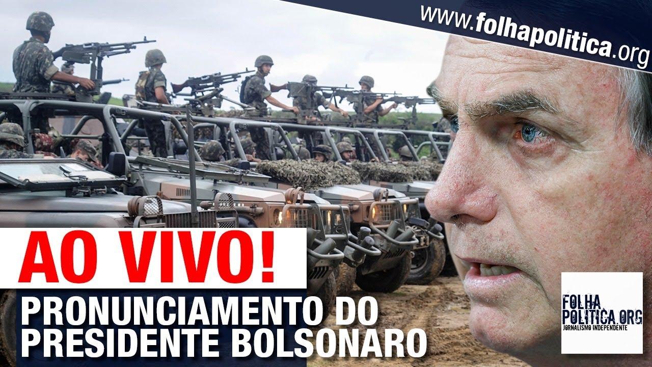 AO VIVO: PRESIDENTE BOLSONARO FAZ PRONUNCIAMENTO EM CERIMÔNIA DO EXÉRCITO BRASILEIRO - PARAQUEDISTAS
