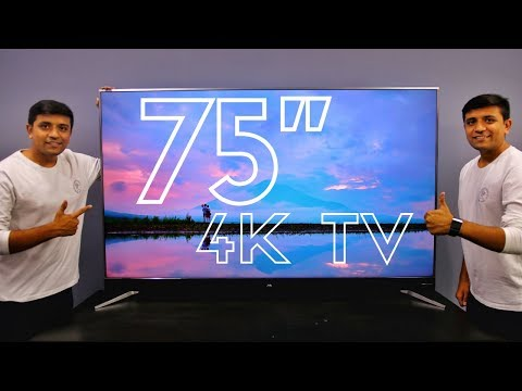 Unboxing The Biggest TV In Our Studio - 75