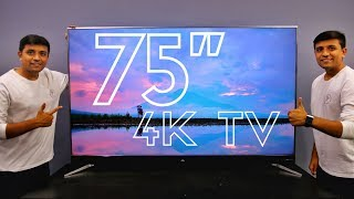 """Unboxing the Biggest TV in our Studio - 75"""" iFFALCON H2A"""