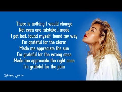 Rita Ora - Grateful (Lyrics) 🎵