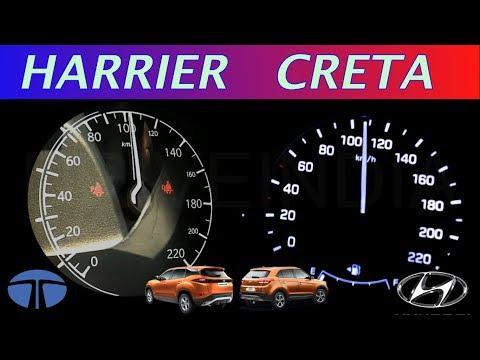 Tata Harrier vs Hyundai Creta 0-100 Speed test | Acceleration